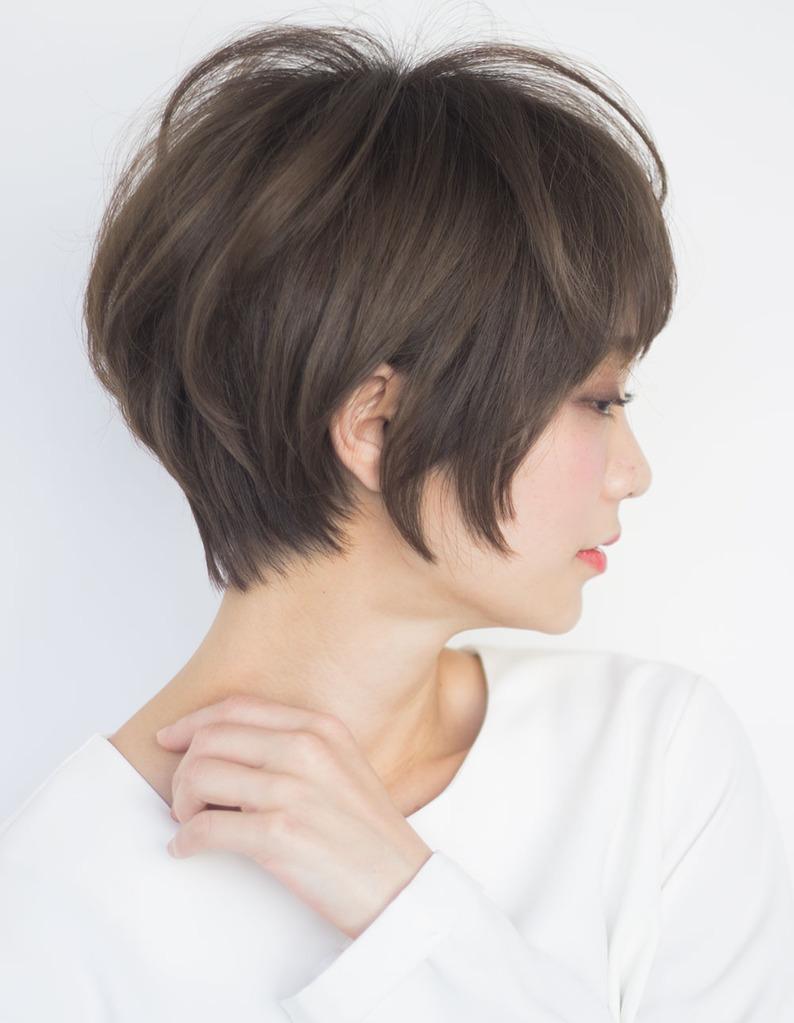 40代 髪型 ショート 丸顔 オーダー方法